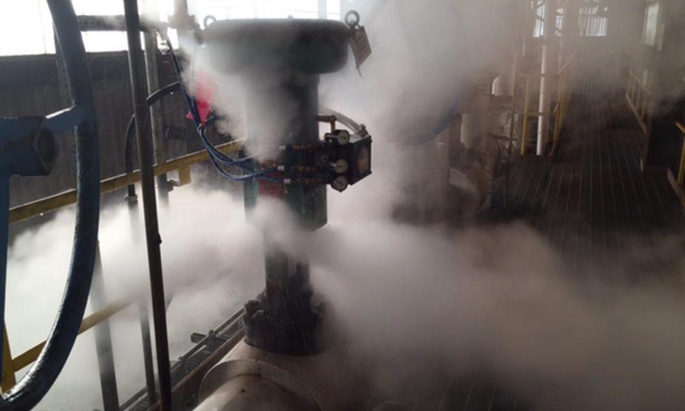 RJ Stacey attemporator leak before repair