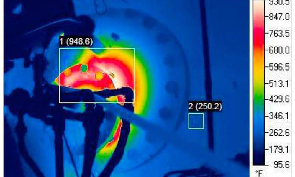 RJ Stacey thermograph before